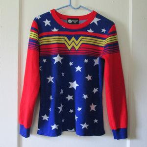 DC comics wonder woman knit sweater woman's